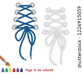 blue lacing to be colored  the... | Shutterstock .eps vector #1226915059