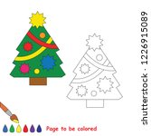 decorated new year tree to be... | Shutterstock .eps vector #1226915089