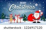 merry christmas banners santa... | Shutterstock .eps vector #1226917120