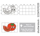 tomato piece funny and smiley ...   Shutterstock .eps vector #1226919220