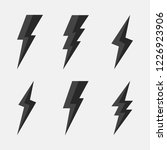 thunderbolts icons. lightning... | Shutterstock .eps vector #1226923906