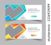 business web banner design   Shutterstock .eps vector #1226929099