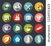 food delivery mobile app vector ... | Shutterstock .eps vector #1226931619
