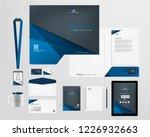 corporate identity template | Shutterstock .eps vector #1226932663