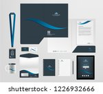 corporate identity template | Shutterstock .eps vector #1226932666