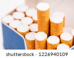 cigarettes in a pack closeup on ...   Shutterstock . vector #1226940109