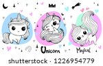 hand drawn vector unicorn...   Shutterstock .eps vector #1226954779