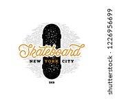 skateboarding t shirt design.... | Shutterstock .eps vector #1226956699