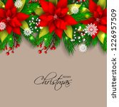 red poinsettia christmas party... | Shutterstock .eps vector #1226957509