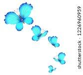 beautiful butterflies  blue... | Shutterstock .eps vector #1226960959