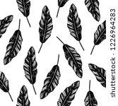 tropical pattern. banana leaves ...   Shutterstock .eps vector #1226964283