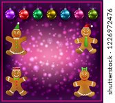 celebration purple greeting...   Shutterstock .eps vector #1226972476