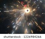 fire crackers during diwali... | Shutterstock . vector #1226984266