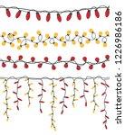christmas light garlands set.... | Shutterstock .eps vector #1226986186