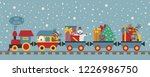 christmas train with bear ... | Shutterstock .eps vector #1226986750