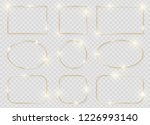gold shiny glowing frames set... | Shutterstock .eps vector #1226993140