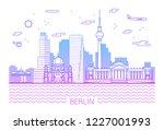 berlin city line art vector... | Shutterstock .eps vector #1227001993