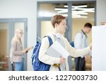 one of modern college students... | Shutterstock . vector #1227003730