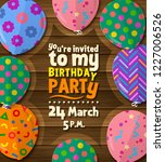 birthday party invitation card... | Shutterstock .eps vector #1227006526