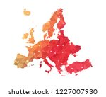 europe map   abstract geometric ... | Shutterstock .eps vector #1227007930