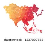 asia map   abstract geometric... | Shutterstock .eps vector #1227007936