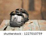 protective military helmet | Shutterstock . vector #1227010759