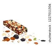 superfood protein breakfast bar ... | Shutterstock .eps vector #1227011506