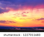 dramatic colorful sunset sky...   Shutterstock . vector #1227011683
