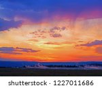 dramatic colorful sunset sky...   Shutterstock . vector #1227011686