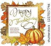 autumn decorative card banner ... | Shutterstock .eps vector #1227017746