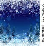 illustration of snowfall and... | Shutterstock .eps vector #1227018700
