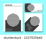 set of printed products...   Shutterstock .eps vector #1227025660