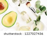 avocado oil natural skin care   ... | Shutterstock . vector #1227027436