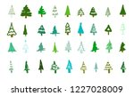 set of 36 abstract christmas... | Shutterstock .eps vector #1227028009