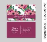 cute floral pattern business...   Shutterstock .eps vector #1227029290