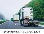truck cabin without trailer box ... | Shutterstock . vector #1227031276