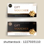 vector set of luxury gift... | Shutterstock .eps vector #1227035110