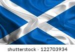 waving fabric flag of scotland