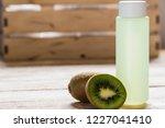 washing washing cosmetics. kiwi ... | Shutterstock . vector #1227041410