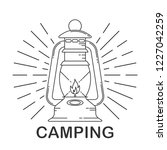 rustic camping lantern in... | Shutterstock .eps vector #1227042259