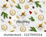 christmas vector background.... | Shutterstock .eps vector #1227045316