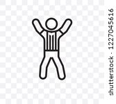 referee man vector linear icon... | Shutterstock .eps vector #1227045616
