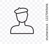 man with beret vector linear... | Shutterstock .eps vector #1227045646