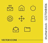 internet icons set with letter  ...
