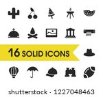 season icons set with air...