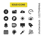ui icons set with will go up ...