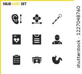 medical icons set with doctor ...
