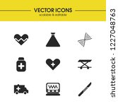 healthcare icons set with... | Shutterstock .eps vector #1227048763