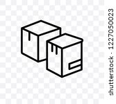 boxes vector linear icon... | Shutterstock .eps vector #1227050023