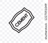 cement vector linear icon... | Shutterstock .eps vector #1227051049